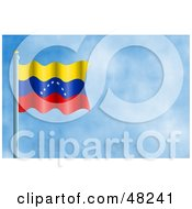 Royalty Free RF Clipart Illustration Of A Waving Venezuela Flag Against A Blue Sky by Prawny