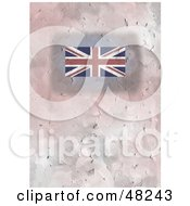 Royalty Free RF Clipart Illustration Of A Textured Union Jack Flag Background by Prawny
