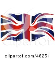 Royalty Free RF Clipart Illustration Of A Grungy Waving Union Jack Flag Background by Prawny