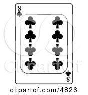 Eight8 Of Clubs Playing Card