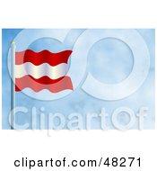 Royalty Free RF Clipart Illustration Of A Waving Austria Flag Against A Blue Sky