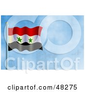 Royalty Free RF Clipart Illustration Of A Syria Algeria Flag Against A Blue Sky
