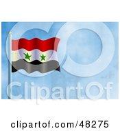 Syria Algeria Flag Against A Blue Sky