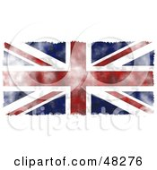 Royalty Free RF Clipart Illustration Of A Grungy UK Flag Background Trimmed In White by Prawny