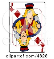 JJack Of Of Diamonds Playing Card