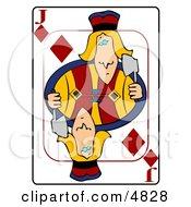 JJack Of Of Diamonds Playing Card