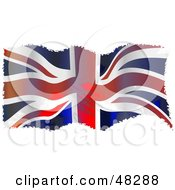 Royalty Free RF Clipart Illustration Of A Grungy Waving Uk Flag Background by Prawny