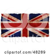 Royalty Free RF Clipart Illustration Of A Grungy Union Jack Flag Background Trimmed In White by Prawny