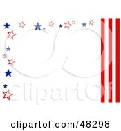 Royalty Free RF Clipart Illustration Of A White Background Bordered In American Stars And Stripes