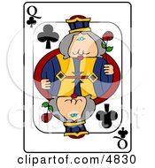 QQueen Of Clubs Playing Card