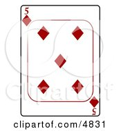Five5 Of Diamonds Playing Card