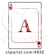AAce Of Hearts Playing Card Clipart by djart