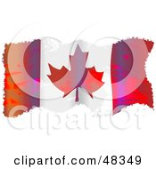 Royalty Free RF Clipart Illustration Of A Grungy Canada Maple Leaf Flag Waving On White