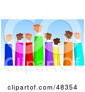 Royalty Free RF Clipart Illustration Of A Handy Hand Team On Strike