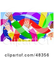 Royalty Free RF Clipart Illustration Of A Handy Hand Network