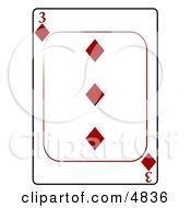 Three3 Of Diamonds Playing Card
