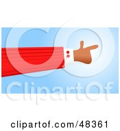 Royalty Free RF Clipart Illustration Of A Handy Hand Pointing Right