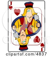 JJack Of Hearts Playing Card Clipart by Dennis Cox