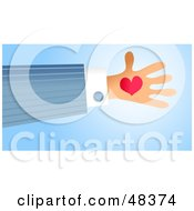 Royalty Free RF Clipart Illustration Of A Handy Hand Holding A Heart