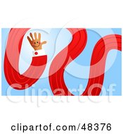 Royalty Free RF Clipart Illustration Of A Bendy Handy Hand by Prawny