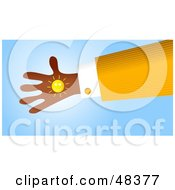 Handy Hand Holding A Sun