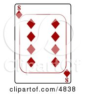 Eight8 Of Diamonds Playing Card Clipart by djart