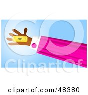 Royalty Free RF Clipart Illustration Of A Handy Hand Holding A Ticket by Prawny