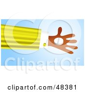 Royalty Free RF Clipart Illustration Of A Handy Hand Holding A White Pill
