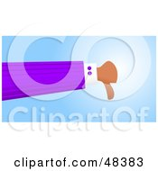 Royalty Free RF Clipart Illustration Of A Handy Hand Giving The Thumbs Down by Prawny