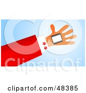 Royalty Free RF Clipart Illustration Of A Handy Hand Holding A Film Frame
