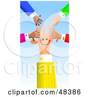 Royalty Free RF Clipart Illustration Of A Handy Hand Surrounded By Others by Prawny