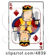 KKing Of Diamonds Playing Card Clipart by djart