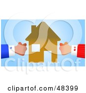 Royalty Free RF Clipart Illustration Of Handy Hands Engaged In A Property Battle by Prawny