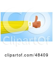 Royalty Free RF Clipart Illustration Of A Handy Hand Giving The Thumbs Up by Prawny
