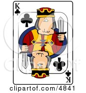 KKing Of Clubs Playing Card Clipart by djart