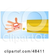 Royalty Free RF Clipart Illustration Of A Handy Hand Holding A Car by Prawny