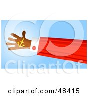 Royalty Free RF Clipart Illustration Of A Handy Hand Holding An Anchor by Prawny