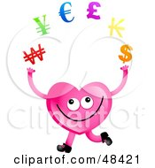 Pink Love Heart Juggling Currency