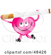 Royalty Free RF Clipart Illustration Of A Pink Love Heart Holding A by Prawny