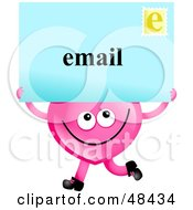 Pink Love Heart Holding An Email