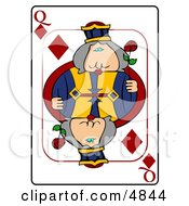 QQueen Of Diamonds Playing Card