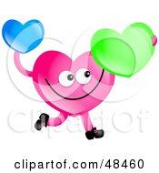 Royalty Free RF Clipart Illustration Of A Pink Love Heart Holding Hearts by Prawny
