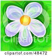 Royalty Free RF Clipart Illustration Of A Purple Daisy On Green