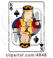 KKing Of Spades Playing Card Clipart by djart