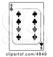Eight8 Of Spades Playing Card Clipart by djart