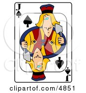 JJack Of Spades Playing Card Clipart by djart