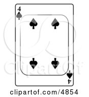 Four4 Of Spades Playing Card Clipart