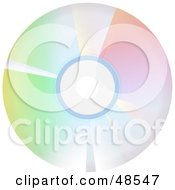 Royalty Free RF Clipart Illustration Of A Colorful Reflective CD