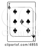 Seven7 Of Spades Playing Card
