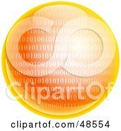 Orange Binary Code Globe
